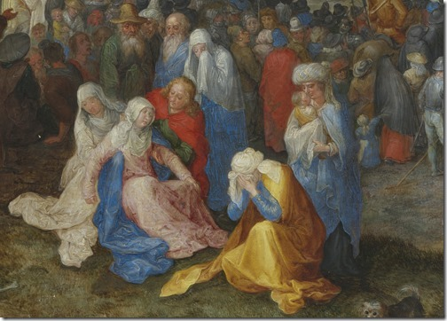 DETAIL: The Calvary (Der Kalvarienberg / Crucifixion of Christ / Kreuzigung Christi), 1598, Jan Brueghel the Elder