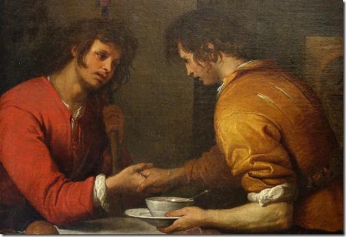 DETAIL: Esau and Jacob (Esau Selling His Birth Right / Esaù e Giacobbe / Esaù vende la primogenitura a Giacobbe / La vendita della primogenitura), no date, Giovanni Andrea de Ferrari