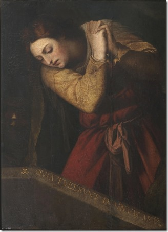 "Mary Magdalene at the Tomb of Christ (""The Empty Tomb"" / Magdalena ante el sepulcro de Cristo), XVII Century, Sebastiano del Piombo"
