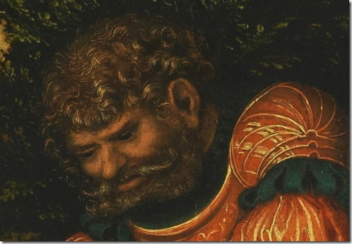 DETAIL: Samson and the Lion (Samson's fight with the Lion / Samson battling with the lion / Samson Vanquishing the Lion / Simson bezwingt den Löwen), ca. 1520-25, Lucas Cranach the Elder