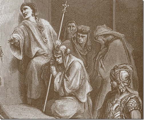DETAIL: David Mourns the Death of Absalom, 1866, Jacob Ettling, after Gustave Doré