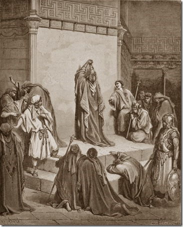 David Mourns the Death of Absalom, 1866, Jacob Ettling, after Gustave Doré