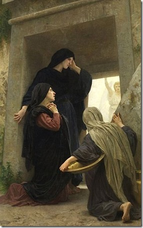 The Holy Women at the Tomb (The Three Marys at the Tomb / Les saintes femmes au tombeau / De Heilige Vrouwen bij het graf van Christus / Las santas mujeres en la tumba / Las mujeres santas en la tumba vacía de Jesús), 1876 , William-Adolphe Bouguereau