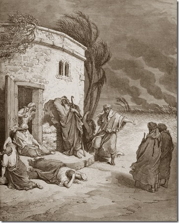 Job Hears of His Misfortunes, 1866, Charles Maurand, Gustave Doré