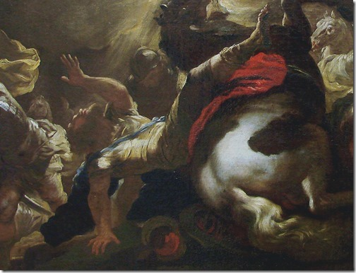 DETAIL: The Conversion of Saint Paul (La conversion de Saint Paul / A Conversão de Paulo), ca. 1690, Studio of Luca Giordano