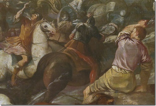 DETAIL: The Crossing of the Red Sea (El paso del mar Rojo), 17th century, Esteban March