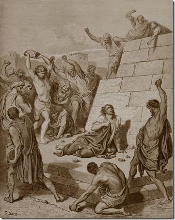The Martyrdom of St. Stephen, 1866, Adolphe-François Pannemaker, Gustave Doré