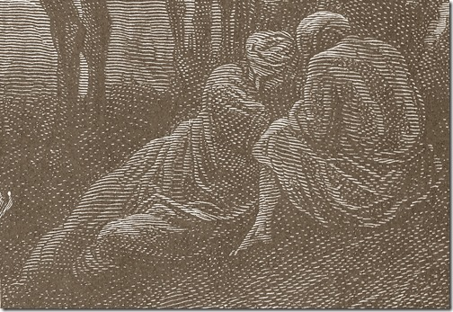 DETAIL: The Prayer of Jacob, 1866, Héliodore-Joseph Pisan, Gustave Doré