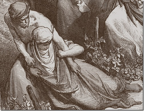 DETAIL: The Benjaminites Take the Virgins of Jabesh-gilead, 1866, Felix-Jean Gauchard, Gustave Doré
