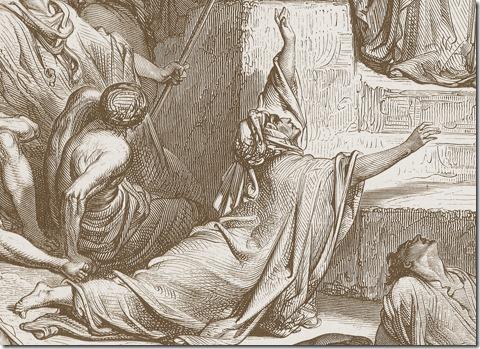 DETAIL: A Famine in Samaria, 1866, Antoine-Alphée Piaud, Gustave Doré