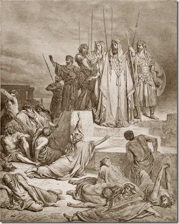 A Famine in Samaria, 1866, Antoine-Alphée Piaud, Gustave Doré
