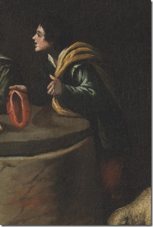 DETAIL: Jacob at the well (Jacob at the well of Haran / Jacob en el pozo / Jacó junto ao Poço), 17th century, studio of Pedro de Orrente