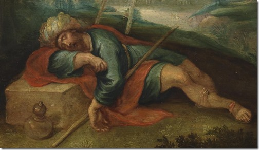 DETAIL: Jacob's Ladder (La escala de Jacob), 17th century, Frans Francken II