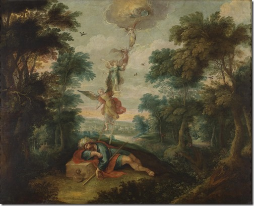 Jacob's Ladder (La escala de Jacob), 17th century, Frans Francken II