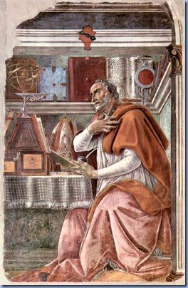 St. Augustine (Agostinho de Hipona), 1480, Sandro Botticelli