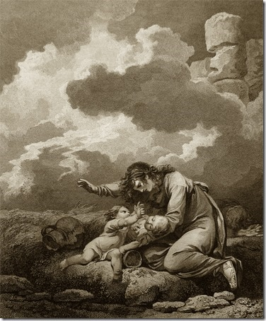 Lamentations, 1796, William Bromley, after Philippe Jacques de Loutherbourg