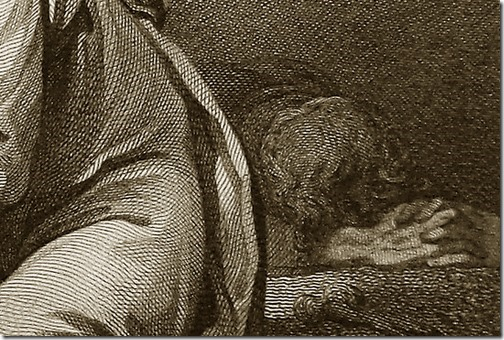DETAIL: Lamentations, 1796, William Bromley, after Philippe Jacques de Loutherbourg