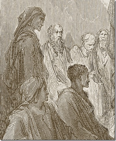 DETAIL: Paul Preaches to the Thessalonians, 1870, Paul Jonnard-Pacel, Gustave Doré
