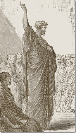 DETAIL: Paul Preaches to the Thessalonians, 1870, Paul Jonnard-Pacel, Gustave Doré