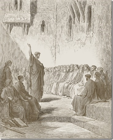 Paul Preaches to the Thessalonians, 1870, Paul Jonnard-Pacel, Gustave Doré