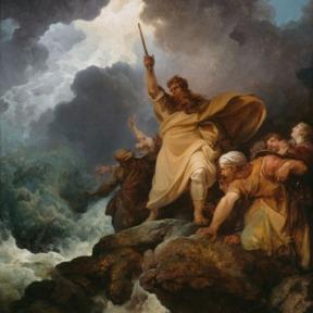 A Destruição do Exército de Faraó – Philippe Jacques de Loutherbourg