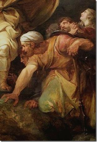 DETAIL: The Destruction of Pharaoh's Army (La destruction de l'armée de Pharaon / A Destruição do Exército de Faraó), 1792, Philippe Jacques de Loutherbourg