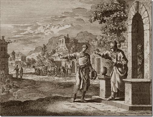 The Parable of the Great Banquet (Invitation to the Great Banquet / Gelijkenis van het grote avondmaal / A Parábola da Grande Ceia), 1712, Johannes Luyken