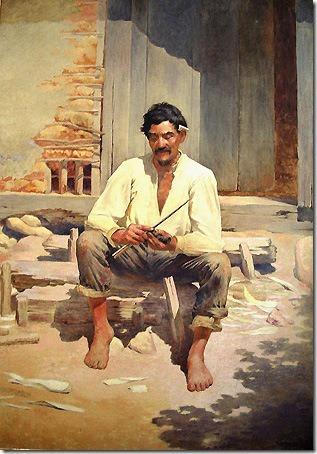Caipira Picando Fumo (Caipira Chopping Tobacco), 1893, José Ferraz de Almeida Júnior