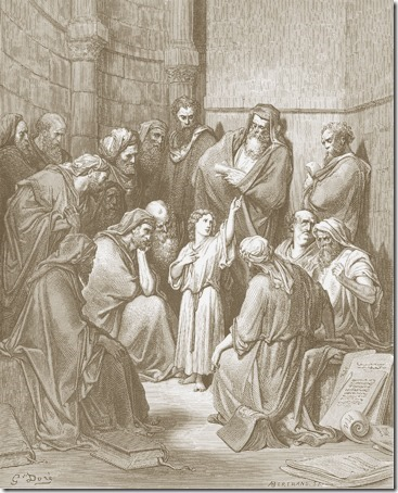 Jesus with the Doctors (Jesus Questioning The Doctors / Jesus entre os Doutores), 1866, Antoine-Valérie Bertrand, after Gustave Doré