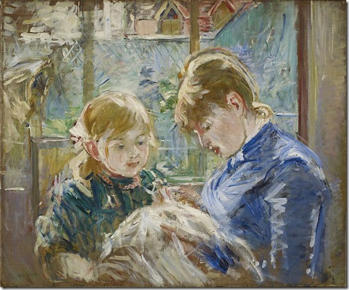 The Artist's Daughter Julie with her Nanny, ca. 1884, Berthe Morisot