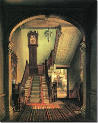 The Old Clock on the Stairs, 1868, Edward Lamson Henry