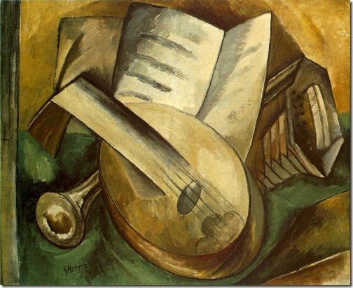 Still Life with Musical Instruments, 1908, Georges Braque