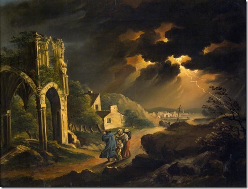 Storm at Night, 1820s, Károly Kisfaludy