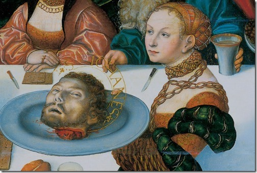 DETAIL: The Feast of Herod (Gastmahl des Herodes / O Banquete de Herodes), 1533, Lucas Cranach the Elder