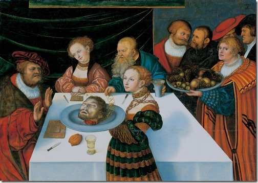 The Feast of Herod (Gastmahl des Herodes / O Banquete de Herodes), 1533, Lucas Cranach the Elder