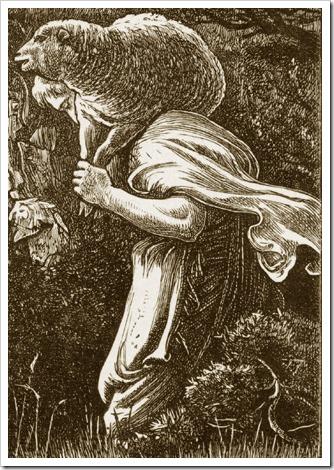 DETAIL: The Lost Sheep, 1864, John Everett Millais