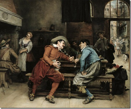 Two Men Talking in a Tavern, Jean Charles Meissonier