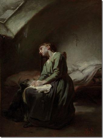 The abandoned girl (La Jeune Fille Abandonnée / L'abandonnée), 1851, Octave Tassaert