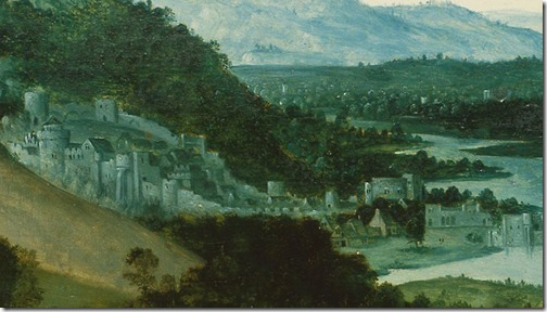 DETAIL: Rest on the Flight into Egypt and the Miraculous Field of Wheat, ca. 1518-1524, Joachim Patinir