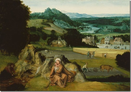 Rest on the Flight into Egypt and the Miraculous Field of Wheat, ca. 1518-1524, Joachim Patinir