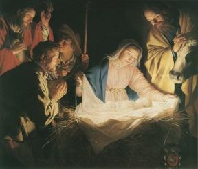 A Adoração dos Pastores – Gerrit van Honthorst