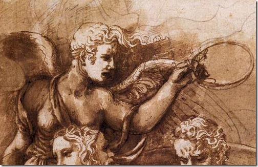 DETAIL: Victory, Janus, Chronos, and Gaea, 1532-34, Giulio Romano