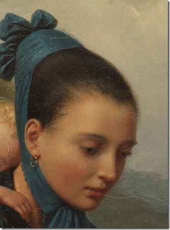 """DETAIL: Girl From The Harz Mountains With Child (Harzerin mit Kind / """"Junge Frau Aus Dem Harz Mit Ihrem Schlafenden Kind"""" / """"Jovem mulher da região do Harz com uma criança dormindo""""), 1845, Friedrich Eduard Meyerheim"""
