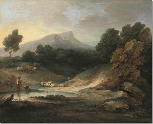 Mountain Landscape With Shepherd (Landschaft mit Hirt und Herde / Paisagem Montanhosa com Pastor e Rebanho), 1784, Thomas Gainsborough