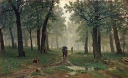 Chuva na floresta de carvalhos – Ivan Shishkin