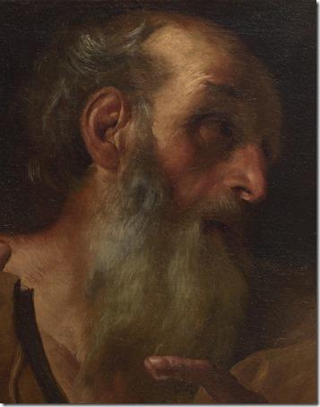 """DETAIL: Saints Andrew and Thomas (""""André e Pedro""""), before 1627, Gian Lorenzo Bernini"""