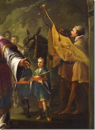 DETAIL: The Anointing of Saul (A Unção de Saul), mid-18th century, Painter of Hungary