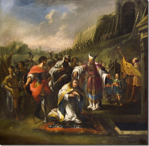The Anointing of Saul (A Unção de Saul), mid-18th century, Painter of Hungary