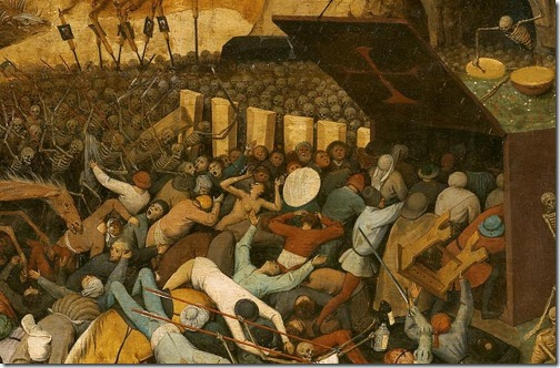 DETAIL: The Triumph of Death (El triunfo de la Muerte / O Triunfo da Morte), ca. 1562,  Pieter Bruegel the Elder
