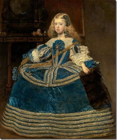 Infanta Margarita Teresa in a Blue Dress (Infantin Margarita Teresa [1651-1673] in blauem Kleid / L'Infante Marguerite-Thérèse d'Autriche en robe bleue / La Infanta Margarita en azul), 1659, Diego Velázquez